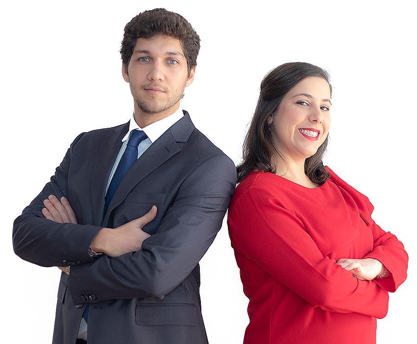 Advogados Ana Lamares e Diogo Capela